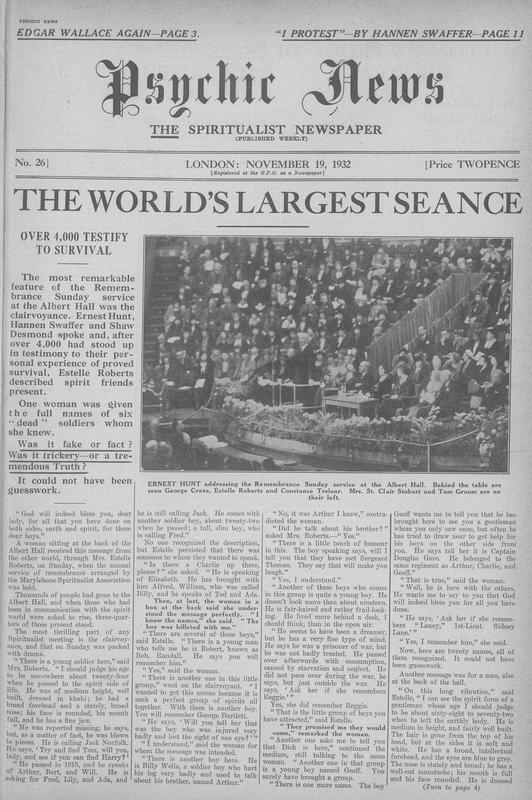 The World's Largest Séance