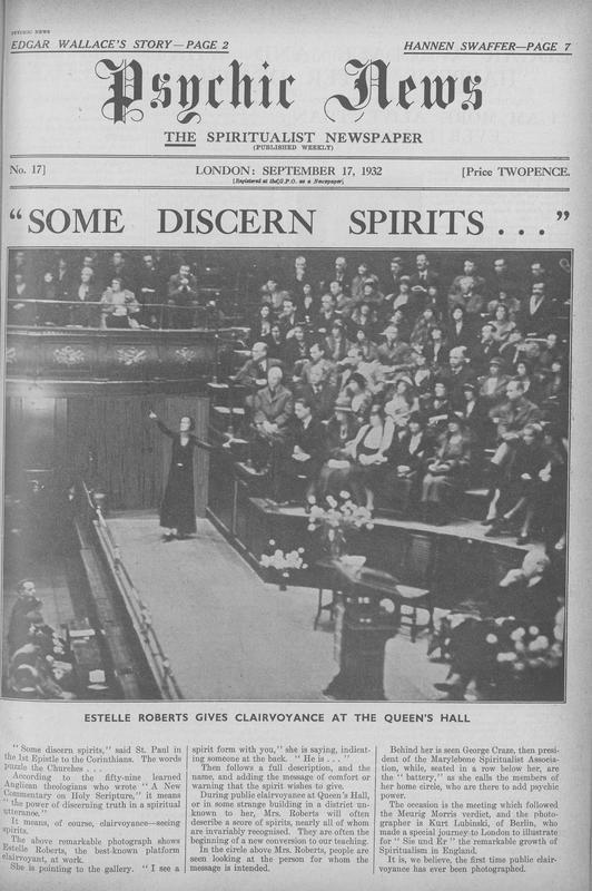 """""""Some Discern Spirits…"""""""